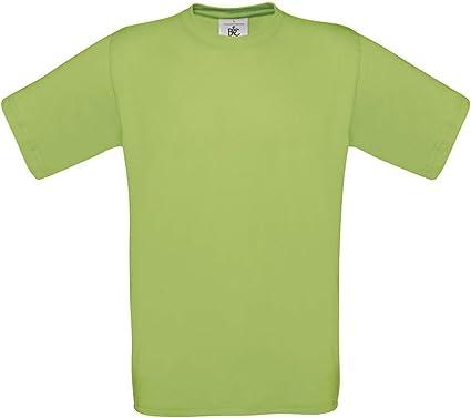 B&C - Camiseta - para Hombre Verde Pistacho: Amazon.es: Ropa