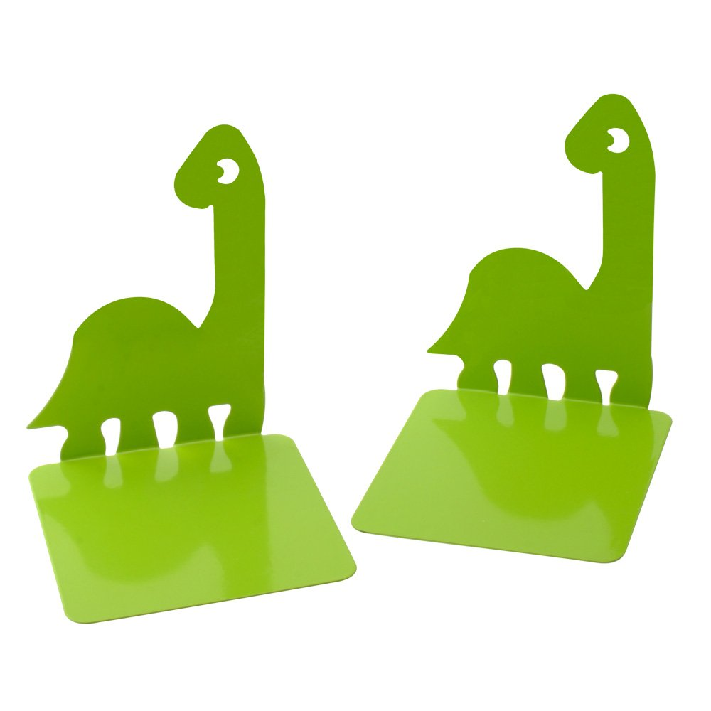 1Pair Luxury Dinosaurs Noskid Bookends Bookend Gift Green free Key chain