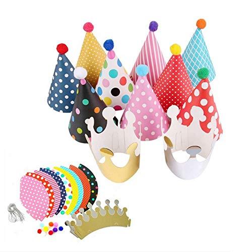 ️ Yu2d ❤️❤️ ️ 11Pcs Kids Party Celebration Hats Cute Birthday Festive Party Decoration]()