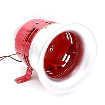 IDABAY MS-390 Alarma Industrial de Acero rojo motor bocina ...