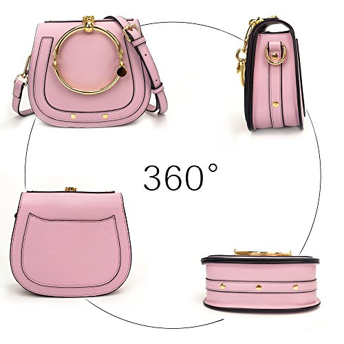 Ring Yoome Punk Girls Purple Circular Crossbody Handbags Purse Handle Bags Women For Small Round wwtr5qfOy