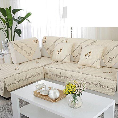Sofa cushions,fabric fashion luxury simple combination cushion, four seasons covers-A 90x160cm(35x63inch) by JIN Sofa mats