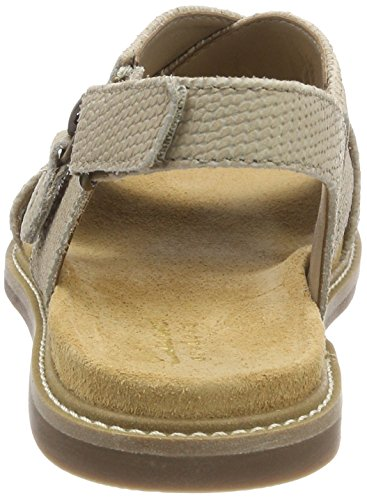 Calm Donna Sandali Beige Cinturino Corsio con Caviglia Clarks Leather Sand alla 0a6wq5x5