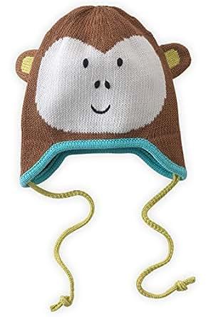 Joobles Organic Baby Earflap Cap - Mel the Monkey (0-12 Months)
