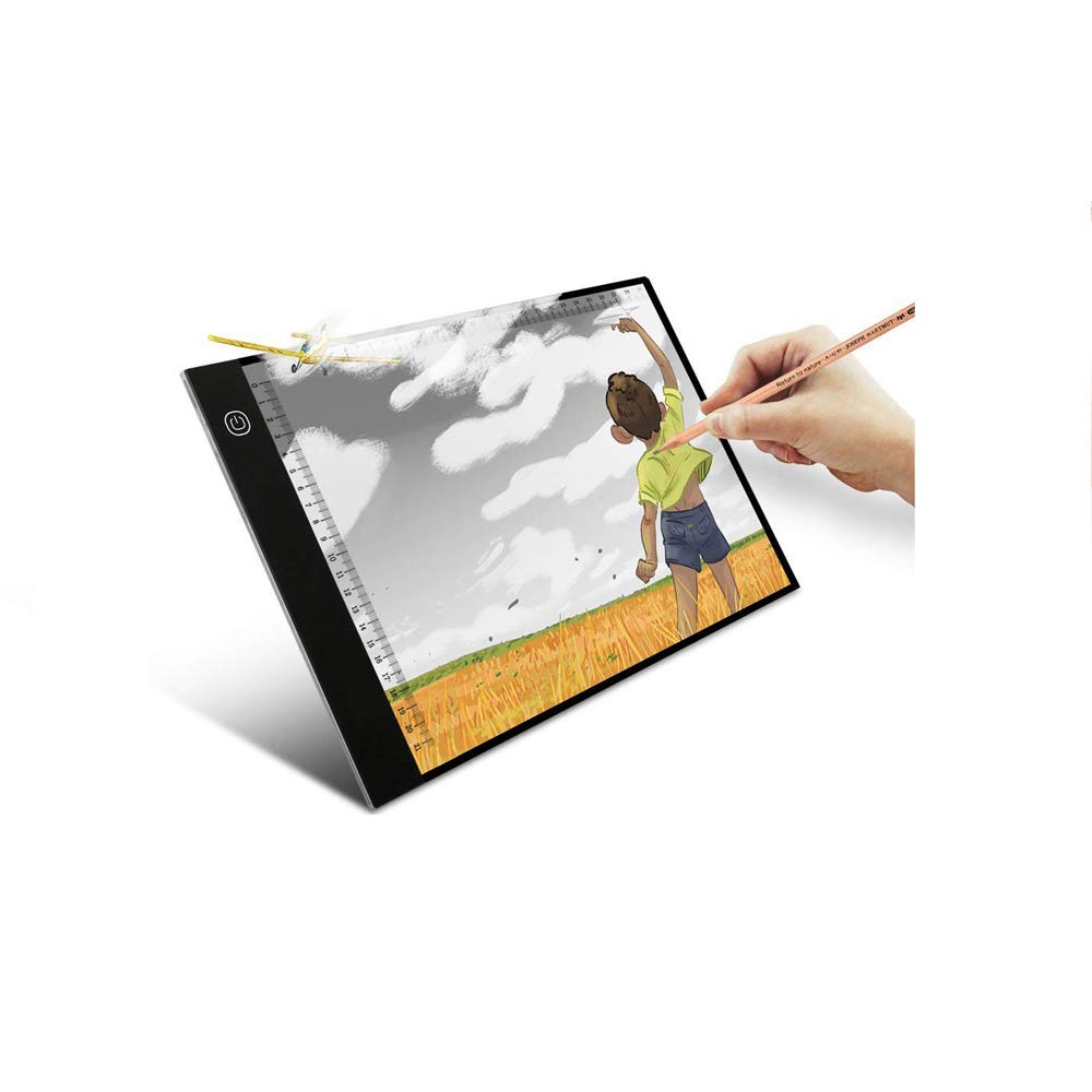 A4 LED Light Box Ultra-Thin Portable Tracer USB Power LED Artcraft Tracing Light Pad 3 Level Brightness Light Box for Artists,Drawing, Sketching, Animatio
