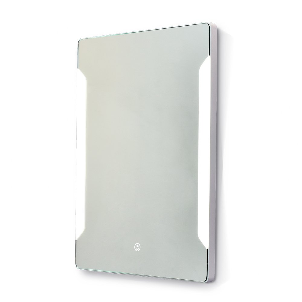 Stamo Vanity Bathroom Silvered Anti-Fog Mirror LED Lighted with Touch Button Vertical Bathroom Vanity Lighted, dimmable Lighting Mirror by Stamo (Image #3)
