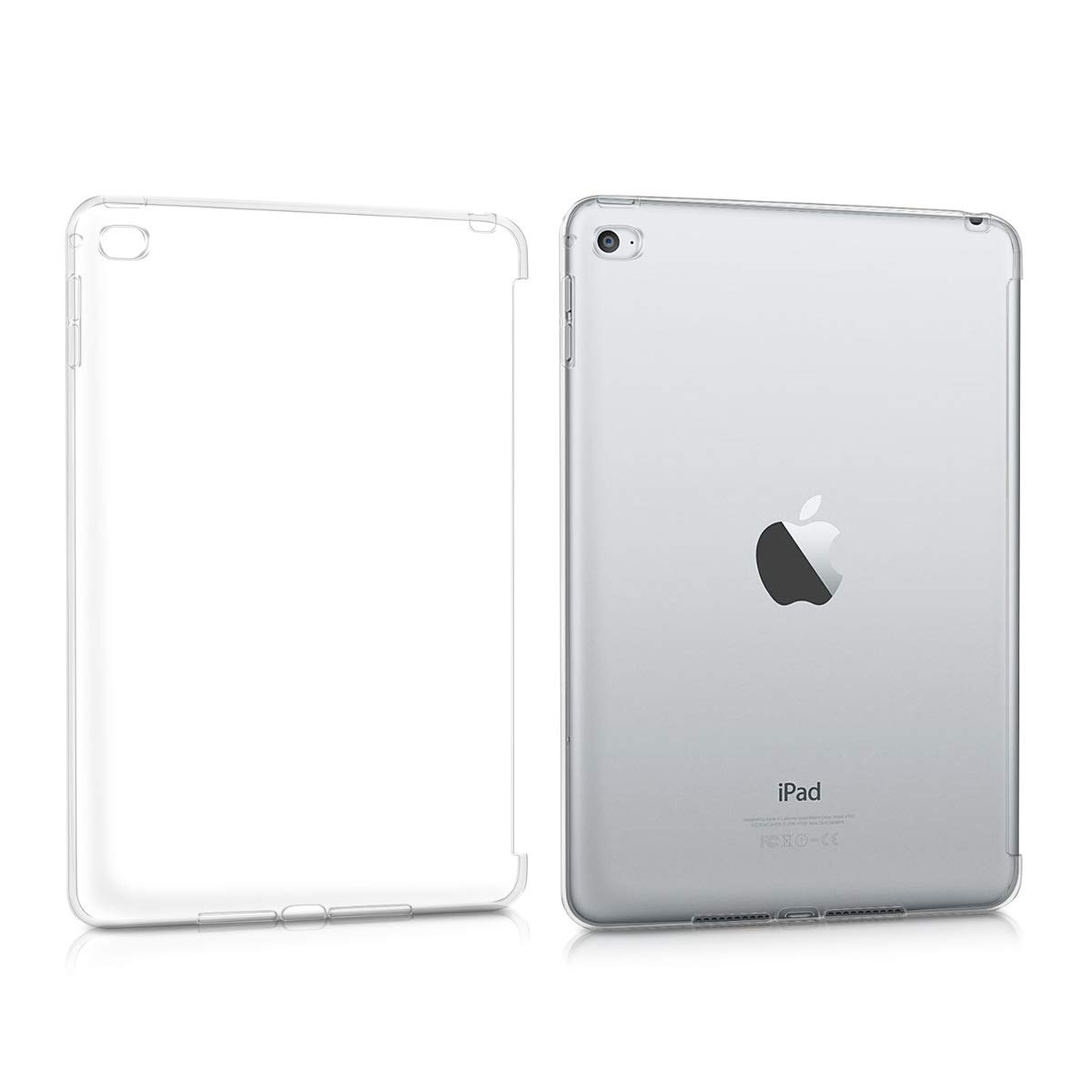 kwmobile Crystal Case for Apple iPad Mini 4 - TPU Silicone Smart Cover Compatible Protective Cover - Transparent