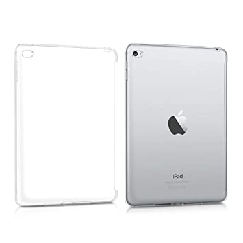 kwmobile Funda para Apple iPad Mini 4 - Smart Cover compatible con case trasero - para tablet de TPU silicona - Carcasa para tableta en transparente