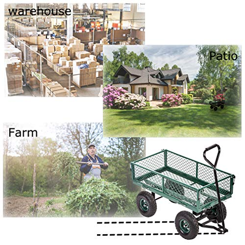 Garden Wagon Cart Cart Outdoor Duty Lawn Landscape