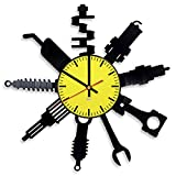 Small Tool Design Vinyl Record Wall Clock - Get unique garage wall decor - Gift ideas for boys or men – Unique Modern Fan Art