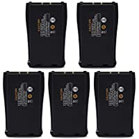 abcGoodefg 2800mAh Replacement rechargeable Li-ion Battery Pack for Baofeng Two way radio 888S 777S 666S Retevis H777 Walkie Talkies (5 PCS)