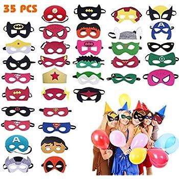 Amazon.com: Máscaras de superhéroes UGA (32 unidades ...