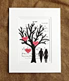 Personalized First Anniversary or Wedding Gift - 3D Paper Tree & Hearts Sheet Music - Custom 1st Anniversary Gift- Paper Anniversary - ''At Last'' Sheet Music - One Year Anniversary Gift