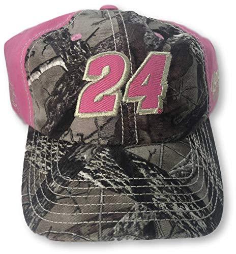 Checkered Flag Jeff Gordon Women's Adjustable Hat Pink Pink ()
