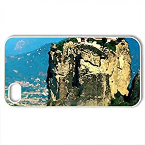 Alone - Case Cover for iPhone 4 and 4s (Mountains Series, Watercolor style, White)