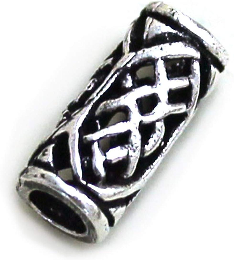 LynnAround 925 Sterling Silver Norse Viking Celtic Beard Beads Rings, Dreadlock Pirate Hair Beads, Pagan Jewelry