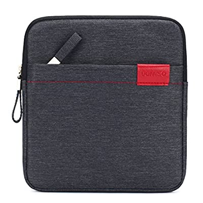 DOMISO Water Resistant Portable USB CD DVD Blu-Ray Protective Storage Carrying Case Bag for Apple MD564ZM/A SuperDrive, Apple Magic Trackpad, SAMSUNG / LG / Dell / ASUS / External DVD Drives,Dark Grey