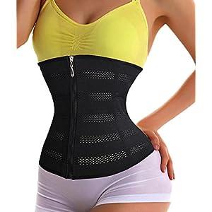 waist cincher vest plus size corset costume hot sweat shapers waist-trimmer slimming shirt plus shapewear corset belt women sauna suit plus size body suit shaper for women comfortable (3XL, Black)
