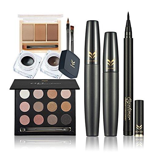 Huamianli 5Pcs Cosmetic Makeup Set, 12 Colors Eye Shadow Eye