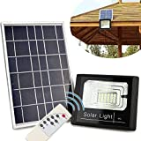 Refletor Solar Holofote Led 40w Placa Solar Controle Completo Iluminacao Sensor (ZEM-31550-A)