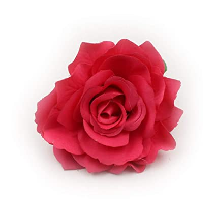 Amazon Fake Flowers Heads Big Silk Blooming Roses Artificial
