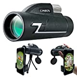 12x42 Monocular Telescope, Cinbos High Powered Monocular Scope with Phone Adapter and Tripod, Waterproof Fogproof Optics FMC BAK4 Prisms, Single Hand Focus for Outdoors Like Bird Watching etc. (12X42)