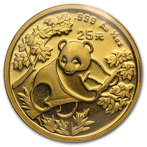 1992 CN China 1/4 oz Gold Panda Large Date BU (Sealed) Gold Brilliant -