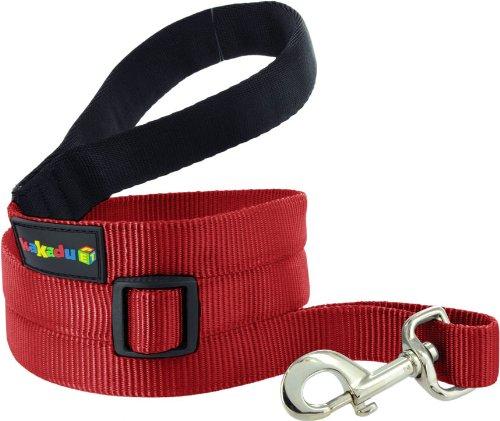 Kakadu Pet Empire Extendible Nylon Dog Lead, Small, 1/2″ x 4-6ft, Fire (Red), My Pet Supplies