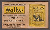 Walko White Diarrhea Roup & Cholera Remedy for Poultry sample packet 1920s