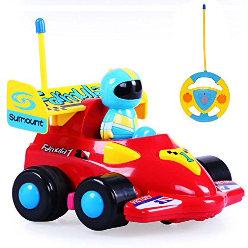 Rabing Cartoon Cars Action Figure RC Cars Music Playing Remote Control Cars Toy for Toddlers and (Cartoon Figure)