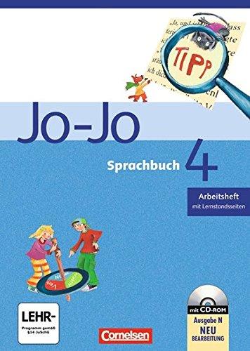 Jo-Jo Sprachbuch - Ausgabe N: 4. Schuljahr - Arbeitsheft: Mit CD-ROM und Lernstandsseiten