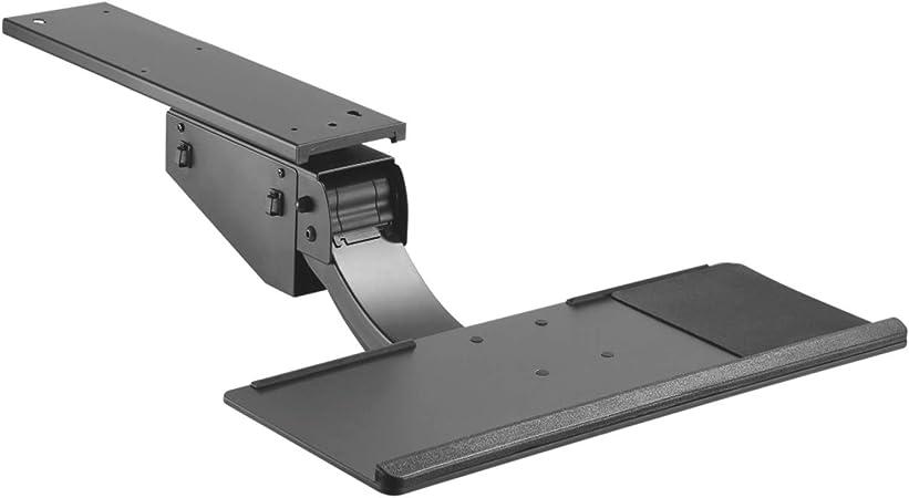 Maclean Brackets MC-795 Piattaforma Supporto Tastiera Regolabile addatto per Il Lavoro al Computer in Piedi//in Posizione Seduta