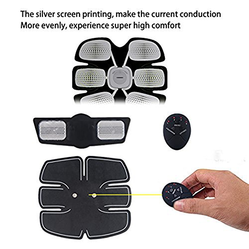 Abdominal Muscle Toner, Yanqueens Fitness Slimming Body Sculptor Muscle Trainer Gymnic Belt Massager Pad Fat Burner