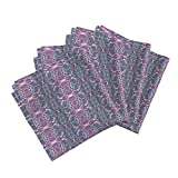 Roostery Sari Linen Cotton Dinner Napkins Destination India by Edsel2084 Set of 4 Cotton Dinner Napkins Made