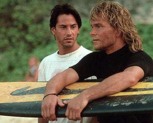 Point Break Patrick Swayze Keanu Reeves Surf Movie 11x14 HD Aluminum Wall Art (Point Wall Entertainment)