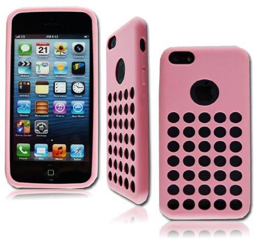 neuen, stilvollen Pink Gel Weiche Rückseite Schutzhülle für Apple I Phone 5C + Gratis Displayschutzfolie