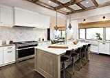 Creative Co-op Glass and Mango Wood Ceiling Pendant