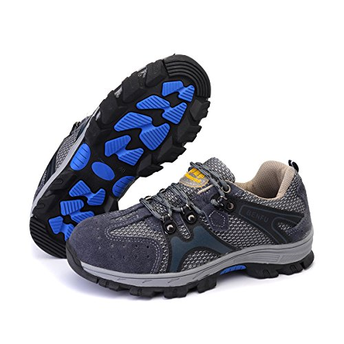 Men's Safety Shoes Steel Toe Work Sneakers Slip Resistant Breathable Hiking Climbing Shoes - 7.5 by Anddoa (Image #8)