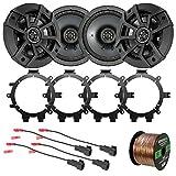 """Best Kicker Car Door Speakers - 4X Kicker CSC654 600-Watt 6.5"""" 2-Way Black Car Review"""