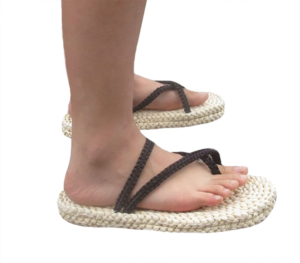 DAZCOS Adult/Kids Handmade Luffy Straw Sandals Cosplay Shoes[US 4 - US 13] (US 10-11) by DAZCOS (Image #2)