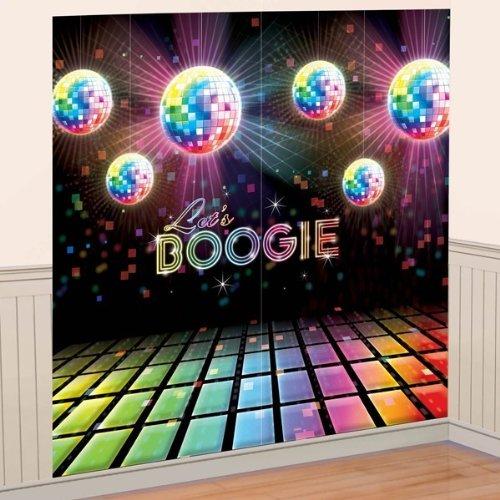 New DISCO DANCE FEVER SCENE SETTER Happy Birthday Party Wall Decoration Decor -