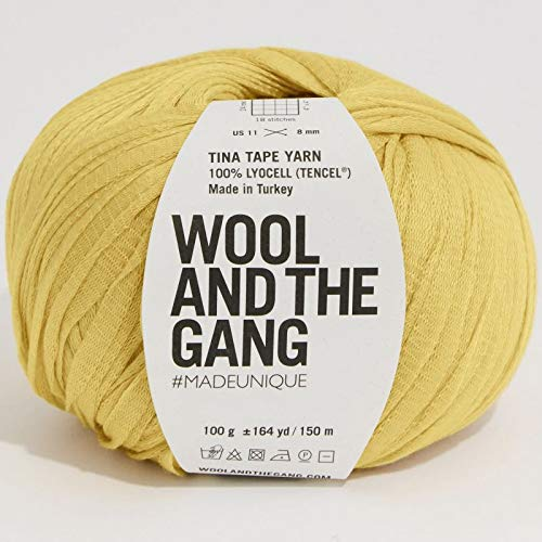 Wool and the Gang Tina Tape Yarn 177 Chalk Yellow