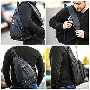 Sling Bag - Sling Backpack - Crossbody Bag - Canvas Backpack - Best One Shoulder Bag - Lightweight Backpack - Mini Travel Bag Backpack - Small Crossbody Backpack - Small Backpack for Women Men