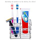 Toothbrush Holder Stainless Steel Toothbrush Holder Toothpaste...