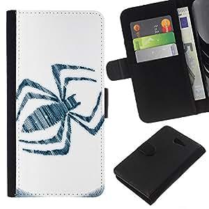 // PHONE CASE GIFT // Moda Estuche Funda de Cuero Billetera Tarjeta de crédito dinero bolsa Cubierta de proteccion Caso Sony Xperia M2 / Spider Sign /