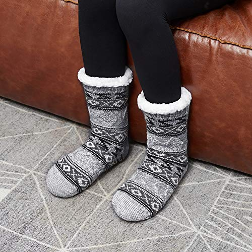 MaaMgic Womens Fuzzy Slipper Socks Girls Cozy Funny Grip Socks