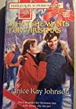 What She Wants for Christmas, Janice K. Johnson, 0373707207