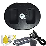 DOT-01 Brand Sony Alpha A5000 Dual Slot USB Charger for Sony Alpha A5000 DSLR and Sony A5000 USB Charger Bundle for Sony FW50 NP-FW50