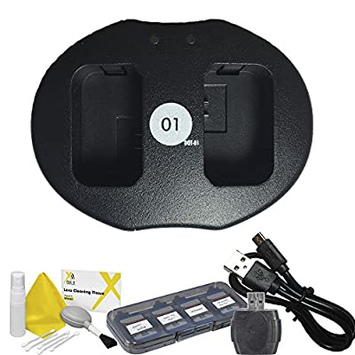 DOT-01 Brand Sony A7 II Dual Slot USB Charger for Sony A7 II Camera and Sony A7 II Accessory Bundle for Sony FW50 NP-FW50