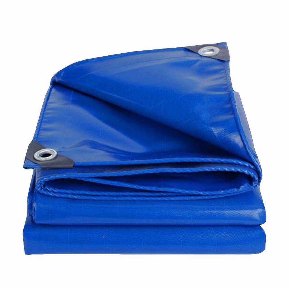 DALL ターポリン ヘビーデューティ PVCコーティング 日焼け止め アウトドア 防水 防風 防塵 防雨 オイルクロス 550g /m² (Color : 青, Size : 3×3m) 青 3×3m